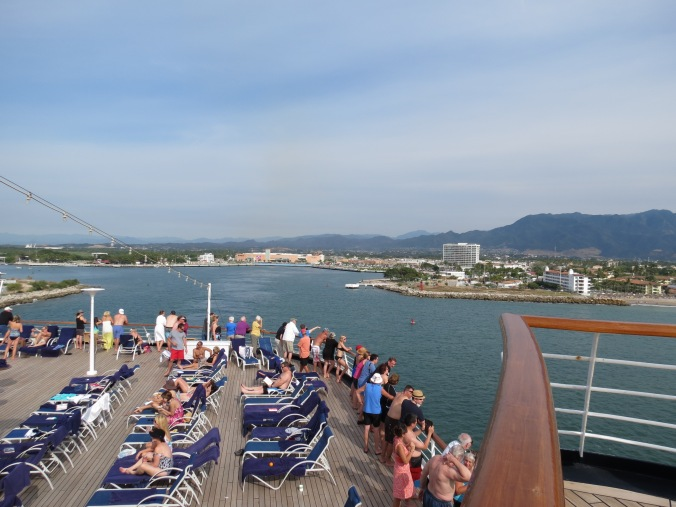 deck of the cruise ship